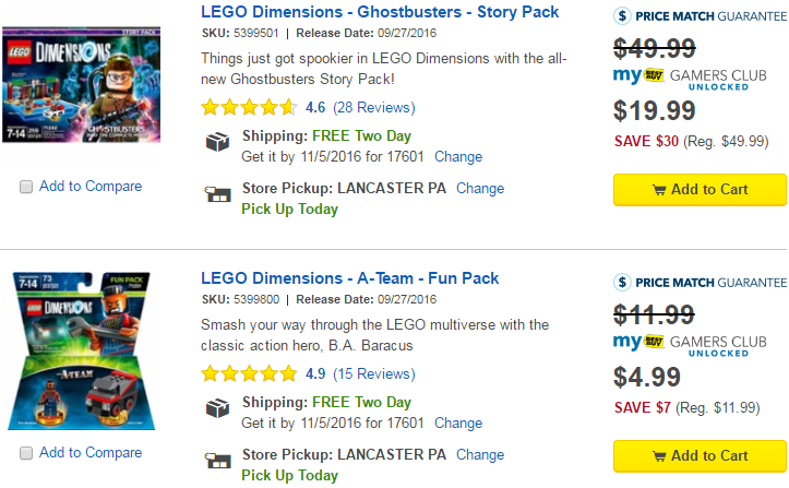 HUGE LEGO Dimensions Sale at Best Buy for GCU Members (Story Pack ...